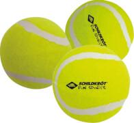 Schildkröt Funsports - Tennisbälle, (3 Stück Freizeitbälle drucklos im Meshbag)
