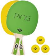 Donic-Schildkröt - TT-Set PING PONG in Tragetasche, Belag gelb / grün,