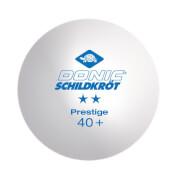 Donic-Schildkröt - TT-Ball 2-Stern PRESTIGE 40mm 3er weiß