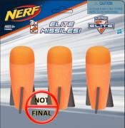 Hasbro A8951EU4 Nerf N-Strike Elite 3er Raketen Nachfüllpack