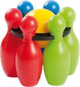 Jumbo Bowling Set, 6 Kegel + 1 Kugel