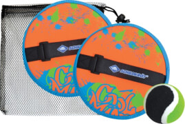 Schildkröt Funsports - NEOPREN KLETT BALL SET, neon-orange,