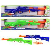 TOITOYS FOAM BLASTER Gewehr 'Shotgun', 6 Schaumstoffpfeile, 2-fach sortiert