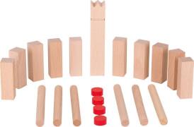 GoKi Wikingerspiel Mini-KUBB, mit Baumwollbeutel
