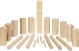 GoKi Wikingerspiel Kubb, kleine Größe, im Baumwollbeutel