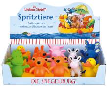 Die Spiegelburg 20940 Spritztiere Die Lieben Sieben, 7-fach sortiert, ab 2 Jahre