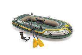 Boot ''Seahawk 2'' SET inkl Plastik-Paddel + Pumpe #68612, bis 240kg, Motor bis 1,5PS, 236x114x41cm