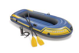Boot ''Challenger 2'' SET inkl. Plastik-Paddel + Pumpe #68612, bis 200kg, 236x114x41cm
