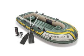 Boot ''Seahawk 3'' SET inkl. Alu-Paddel + Pumpe #68614, bis 360kg, 295x137x43cm