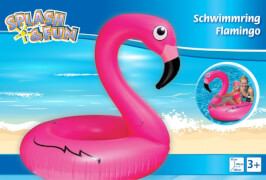 Splash & Fun Schwimmring Flamingo, 106x106x97 cm