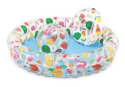 Intex Pool-Set 2-Ring ''Just so Fruity'' mit # 51cm Ring + Ball, Wasserbedarf ca 150l, ab 2 Jahre, 122x25cm