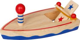 Holzboot mit Gummimotor  Bunte Geschenke