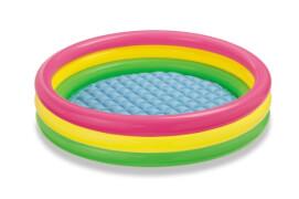 Intex BabyPool ''Sunset Glow'', Wasserbedarf ca 275l, aufblasbarer Boden, 3- Ringe, ab 2 Jahre, 147x33cm