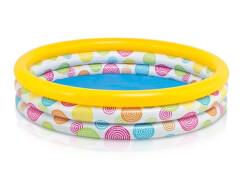 Intex Pool 3-Ring ''Rainbow Ombre'', Wasserbedarf ca 330l, ab 2 Jahre, 147x33cm