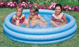 Intex Pool 3-Ring ''Crytsalblue'', Wasserbedarf ca 156l, ab 2 Jahre, 114x25cm