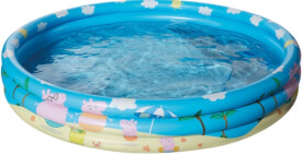 Happy People 16261 Peppa Pig 3-Ring-Pool, aufgeblasen ca. 122x23 cm,