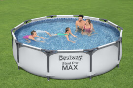 Steel Pro Max™ Frame Pool-Set, rund, mit Filterpumpe 305 x 76 cm