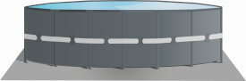 INTEX Ultra XTR FramePool-Set inkl Sandfilter RCD Pumpe, Sicherheitsleiter, Bodenplane, Abdeckplane, 488x122cm