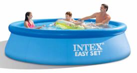 INTEX EasySet Pool-Set inkl GS-Pumpe, Wasserbedarf 3853 l, 305x76cm, inkl. Filterpumpe #28602GS (12V) mit 1250 l/h Pumpl