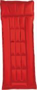 Box - Kastenmatratze rot / blau ca. 198 x 75 cm, gummiertes Baumwoll -  Gewebe