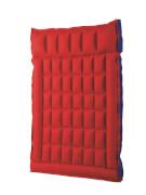 Doppelbox - Matratze rot / blau, ca. 200 x 130 cm, gummiertes Baumwoll -  Gewebe
