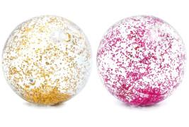 Strandball Transparent Glitter, sortiert