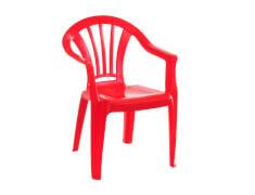 Kinderstuhl rot Kunststoff