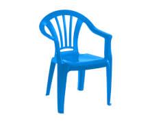 Kinderstuhl blau Kunststoff