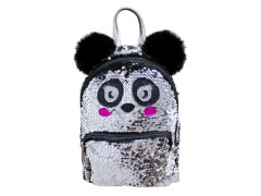 Panda Rucksack mit Pailletten