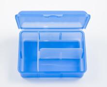 Brotbox + 1 Innenteiler Blau