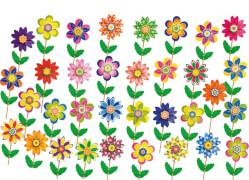 Windrad mit Blumenmotiv ca. 25cm, sortiert