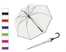 77254B Regenschirm Hit Lang Transparent, sortiert