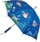 Die Spiegelburg 15035 Capt'n Sharky - Regenschirm Tiefsee, mit Lichteffekten, # ca. 70 cm