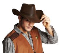 Cowboyhut Lederoptik