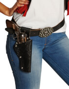 Cowboygürtel Lady schwarz aus Lefa