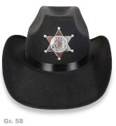 Cowboyhut schwarz, Gr. 58 cm