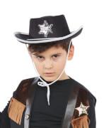 Cowboyhut schwarz Kinder 54