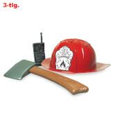 Feuerwehrset, 3-tlg. (Helm, Axt, Walkie-Talkie)