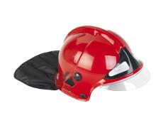 Feuerwehrhelm mit Visier, rot