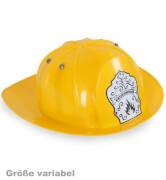 FRIES - Feuerwehr-Helm gelb, variable Größe, Gr. 47 - 57 cm