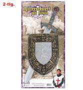 FRIES - Ritterschwert + Schild, 57 cm L.