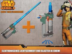 Hasbro Star Wars Rebels Ezras elektronisches Lichtschwert mit Blaster