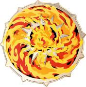 Schild, Flamme - LIONTOUCH