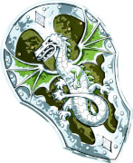 Schild, Drache - LIONTOUCH