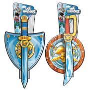 Blue Rocket Pirates and Knights Sword & Shield - sort.
