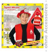 Spielweste Feuerwehr, 1-tlg., rot, PB , Gr. 128