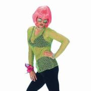 Netz-Hemd, neon-grün, osfm