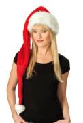 Kostüm Weihnachtsmütze Plüsch lang orgi. STD