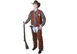 Cowboy-Weste, braun, Herrengröße  52/54