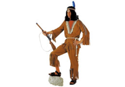Indianer: Hose, Oberteil, Kordel braun 52/54